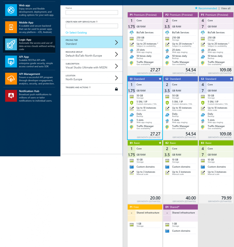 Hello azure app service for Plan app
