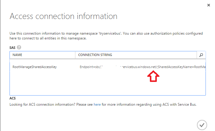 Service Bus Connection String